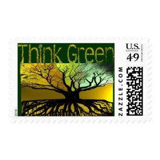 Piense el verde sello