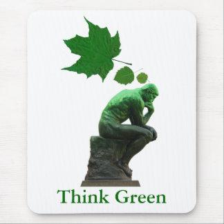 Piense el verde tapetes de ratón