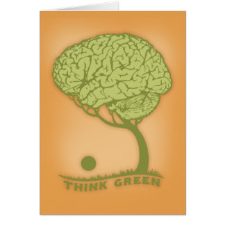 Piense el verde tarjeta de felicitación