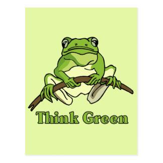 Piense el verde postal