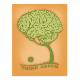 Piense el verde tarjetas postales