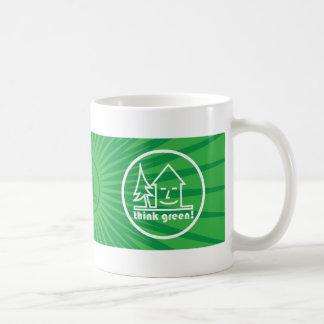 ¡Piense el verde! taza