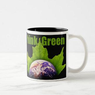 Piense el verde tazas