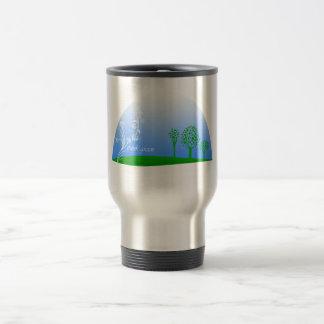 Piense el verde taza de viaje de acero inoxidable