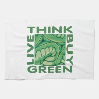 Piense el verde toallas