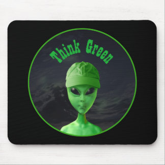 Piense el verde Y Alfombrilla De Raton