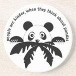 Piense en el práctico de costa de las pandas posavasos manualidades