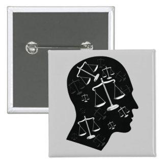 Piense en la justicia - botón de la ley pin
