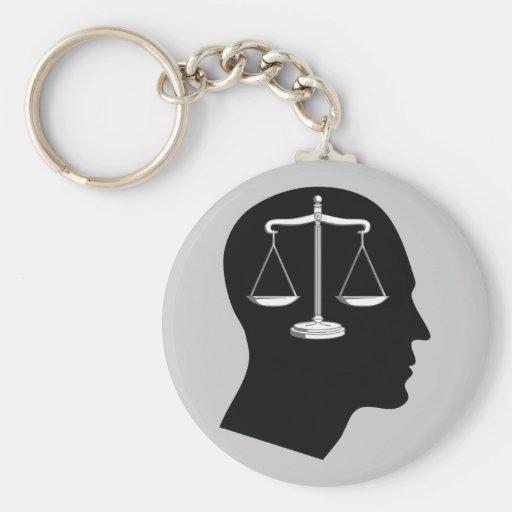 Piense en la justicia - llaveros de la ley