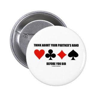Piense en la mano de su socio antes de que usted h pins