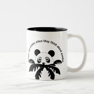 Piense en la taza de las pandas