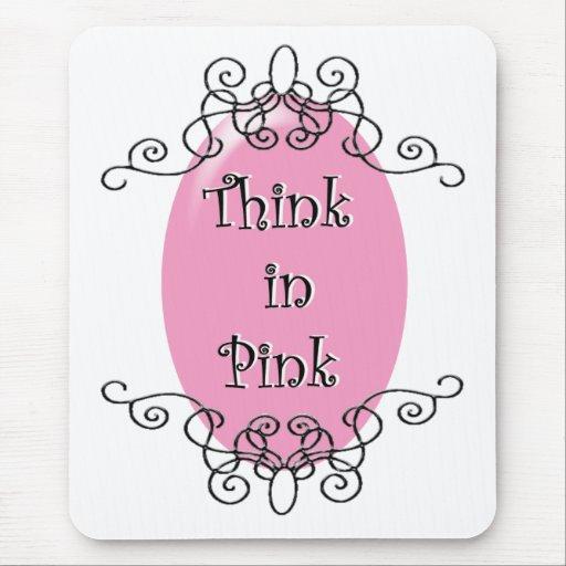 Piense en rosa alfombrillas de ratones