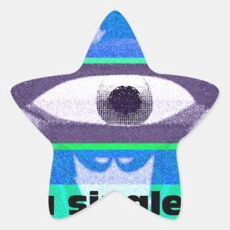 Piense en una sola cosa pegatina en forma de estrella