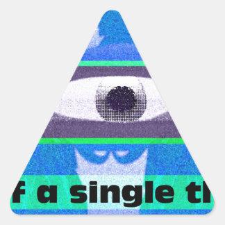 Piense en una sola cosa pegatina triangular