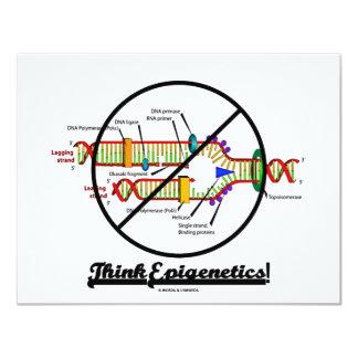 """¡Piense Epigenetics! (de la cruz réplica de la DNA Invitación 4.25"""" X 5.5"""""""