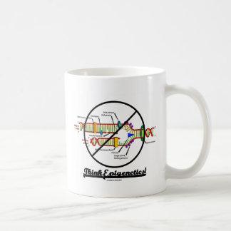 ¡Piense Epigenetics! (de la cruz réplica de la DNA Taza De Café