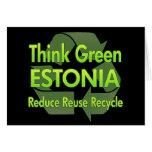 Piense Estonia verde Felicitaciones