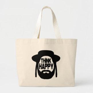 Piense feliz bolsas de mano