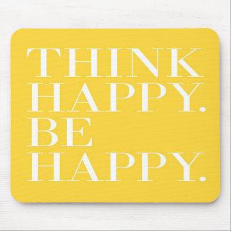Piense feliz. Sea feliz Tapete De Raton