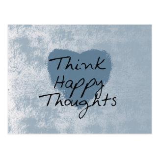 Piense feliz tarjetas postales