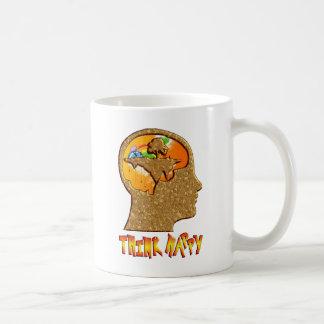Piense feliz tazas de café