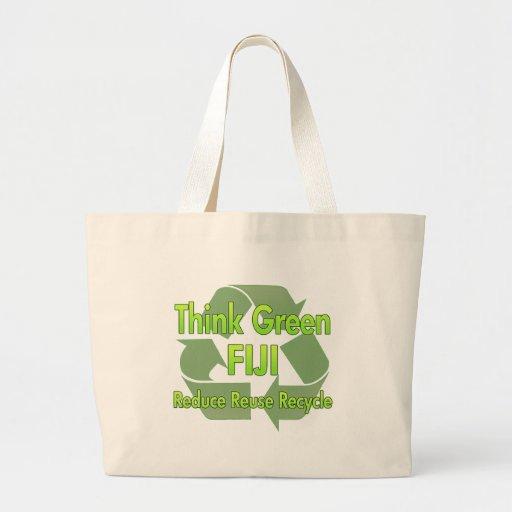 Piense Fiji verde Bolsas