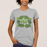 Piense Fiji verde Camiseta