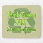 Piense Fiji verde Tapete De Ratón