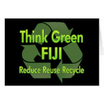 Piense Fiji verde Tarjetón