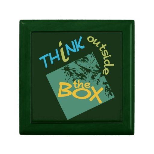Piense fuera de la caja de regalo de la caja joyero cuadrado pequeño