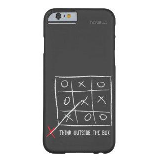 Piense fuera de la caja funda de iPhone 6 barely there
