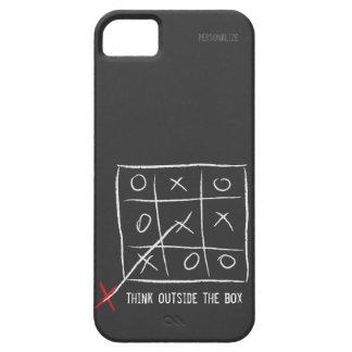 Piense fuera de la caja funda para iPhone 5 barely there