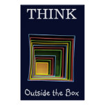 Piense fuera de la caja impresiones