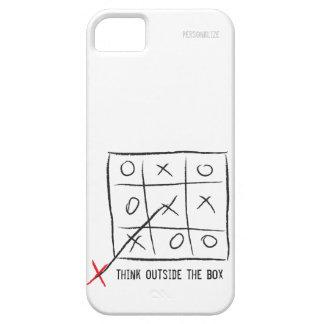 Piense fuera de la caja iPhone 5 carcasa