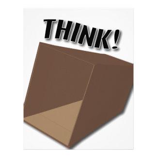 ¡Piense fuera de la caja! Membrete Personalizado