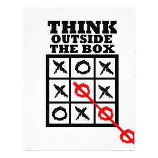 Piense fuera de la caja membrete