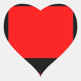 Piense fuera de la caja colcomanias corazon personalizadas