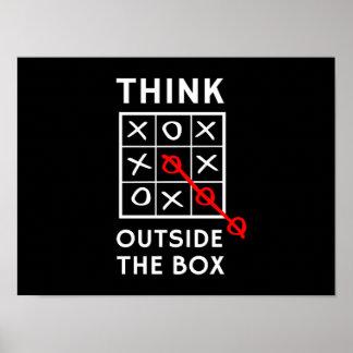 Piense fuera de la caja póster