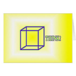 ¡Piense fuera de la caja! Tarjeta De Felicitación