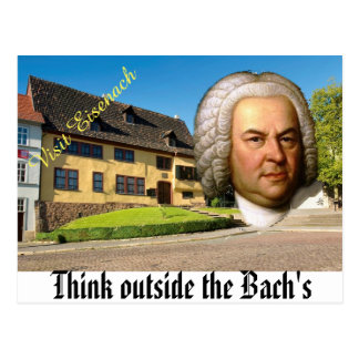 Piense fuera de la postal del Bach