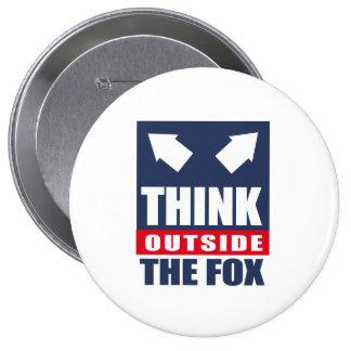 Piense fuera del zorro pins