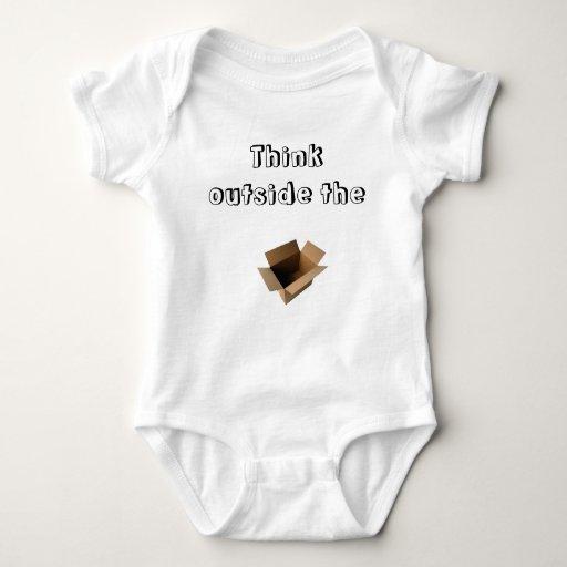 """""""Piense fuera ropa del bebé de la caja"""" Body Para Bebé"""