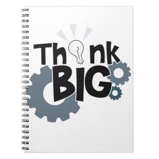 Piense grande cuaderno