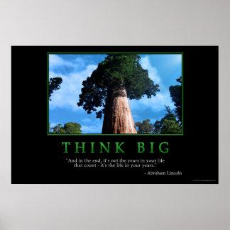 Piense grande póster