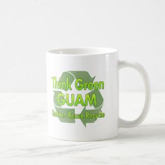 Piense Guam verde Taza