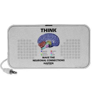Piense hacen que las conexiones neuronales suceden laptop altavoz