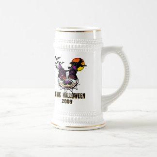 Piense Halloween Stein 2009 con el logotipo de los Jarra De Cerveza