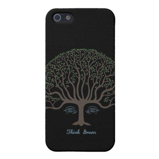 Piense IIb verde iPhone 5 Fundas