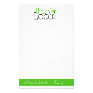 Piense inmóvil local papelería personalizada