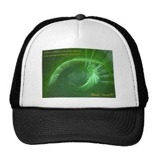 Piense inspirado verde gorras
